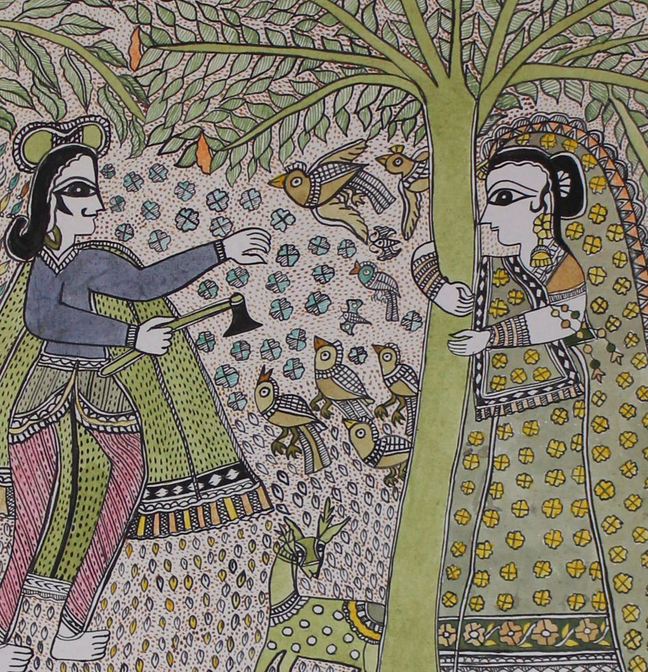 Color Mithila Art Paintings , hand painted by madhubani artists, buy ...